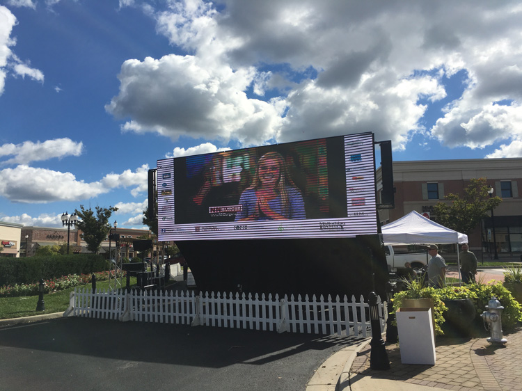 LED Screen at Midlothian Festival