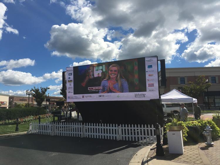LED Screen at Midlothian Festival